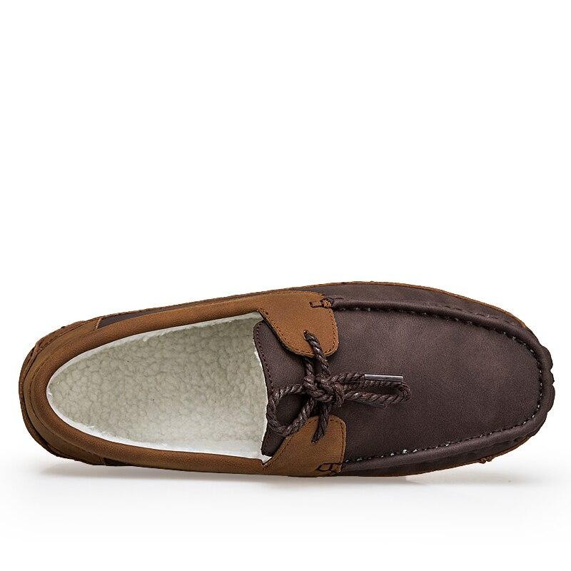 De Noir Véritable Cuir Et En Casual Hommes Gris Brun Black Chaussures Hombre Gray brown Sping Appartements D'hiver Mocassins Zapatos XuTwPiOkZ