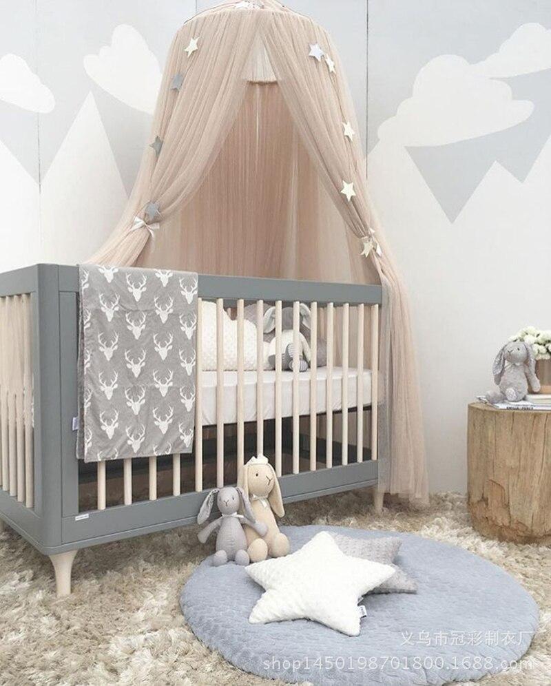 Marke Runde Kinderbett Moskitonetz Kreis Hung Dome Moustiquaire Prinzessin  Bett Baldachin Mit Sterne Krone Vorhang Für Kinderzimmer Bett