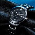 OUPAI Модные мужские кремовые Спортивные кварцевые наручные часы, аналоговый дисплей, черные часы для мужчин с календарем 2015