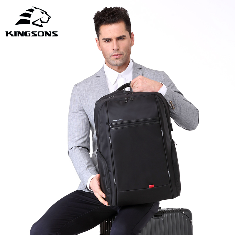 KINGSONS 2019 New 15 Inch Big Capacity Laptop Backpack Men Women Fashion Backpack Business Leisure Travel