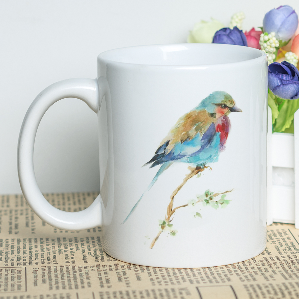 Us 10 66 8 Off 11oz Ceramic Bird Cup For Coffee Tea Milk Beer Mug With Fantastic Printing Birds Themed Decorative Coffee Mugs For Birds Lovers In