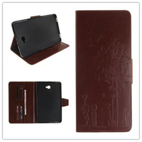 Embossed Print Flip Cover Carcasa For Samsung Galaxy Tab A 10 1 2016 T585 T580 Case