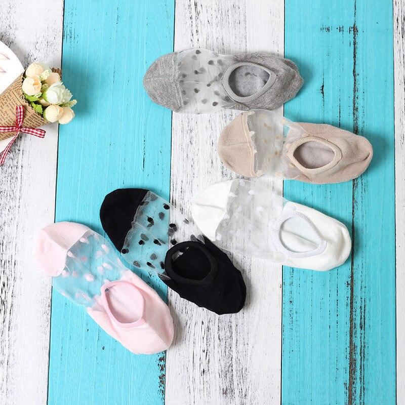 Sexy Lace Mesh Fishnet Socks Mixed Fiber Transparent Stretch Elasticity Ankle Net Yarn Thin Women Cool Socks 3pair=6pcs ws170