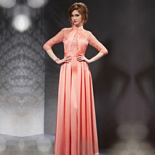 vestidos de festa vestido longo 30805 Autumn Long Prom Dress Lace Sleeve Elegant Dresses 2015
