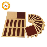 Montessori Materials Rough and Smooth Boards Exercise Perception Children Toy