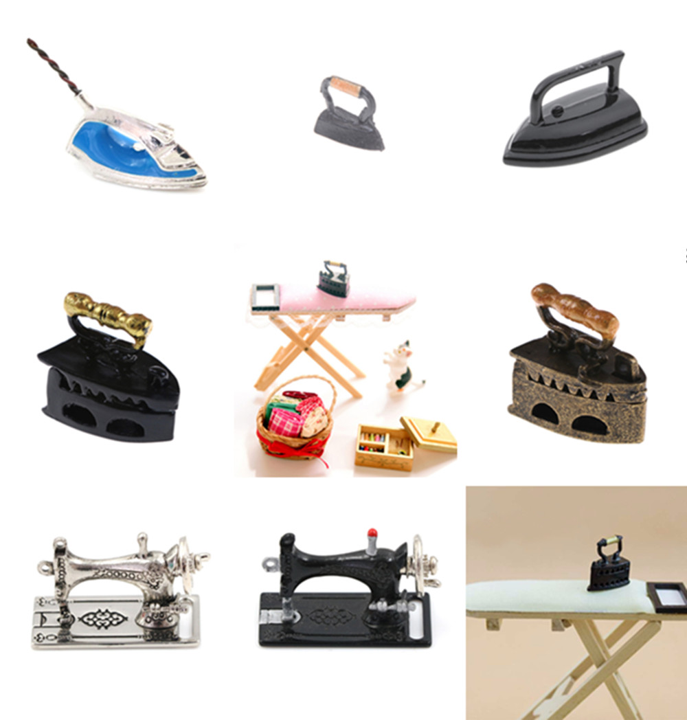 1:12 Scale Doll House Miniature Iron Ironing Board Accessories For Dollhouse Furniture Toy Decoration