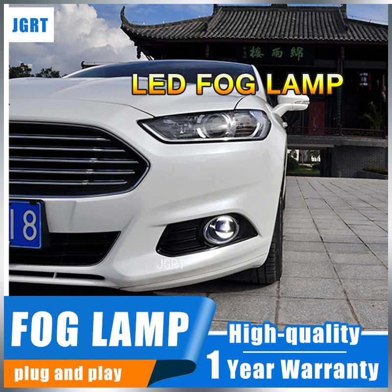 JGRT 2009-2016 For Ford Fiesta  led fog lights+LED DRL+turn signal lights Car Styling LED Daytime Running Lights LED fog lamps