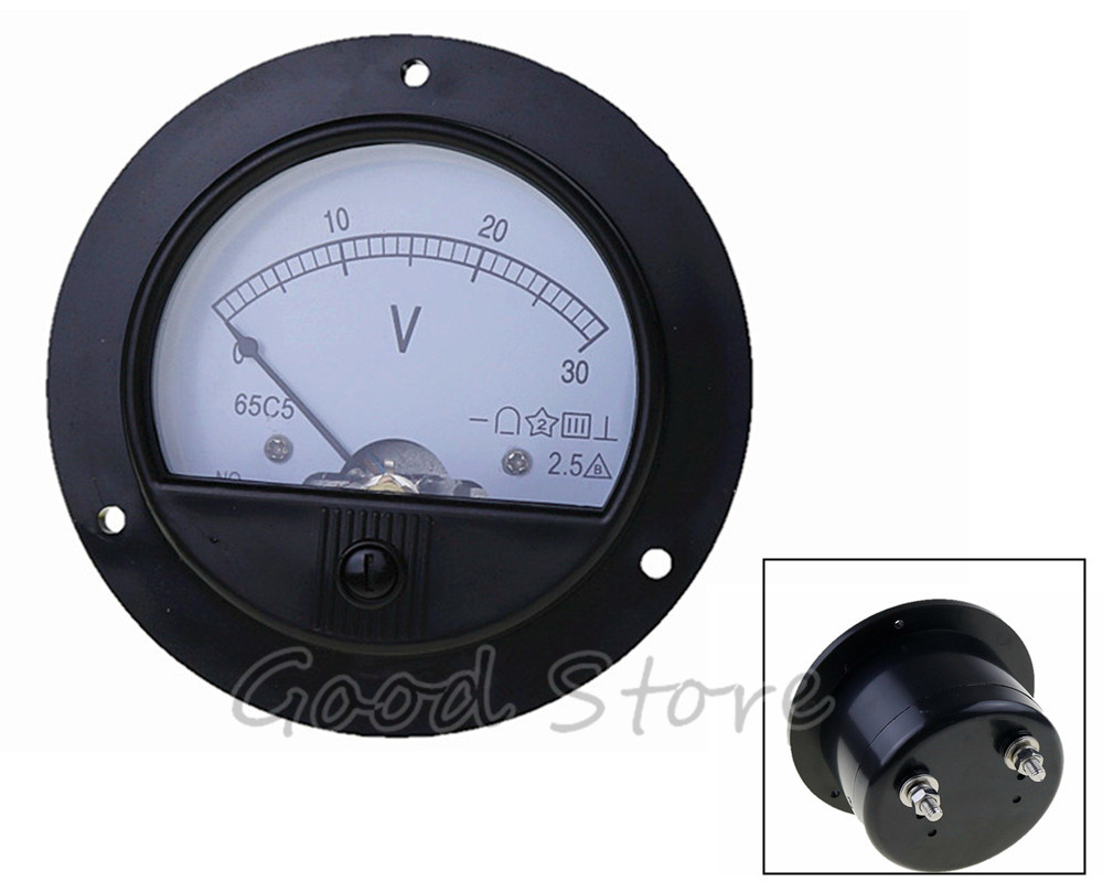 DC 62T2/65C5 3V 5V 10V 15V 20V 30V 50V Class2.5 Analog Voltmeter Voltage Meter Measuring Gauge