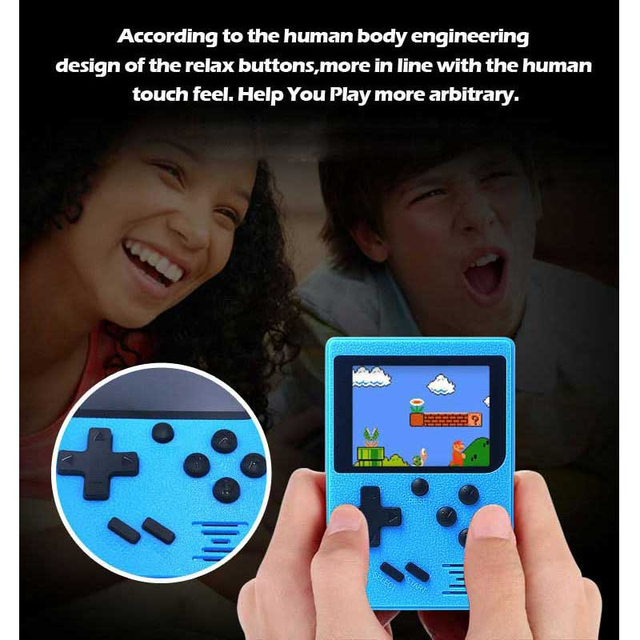 Retro Portable Mini Handheld Game Console 8-Bit 3.0 Inch Color LCD Kids Color Game Player Built-in 400 Games 168 Games