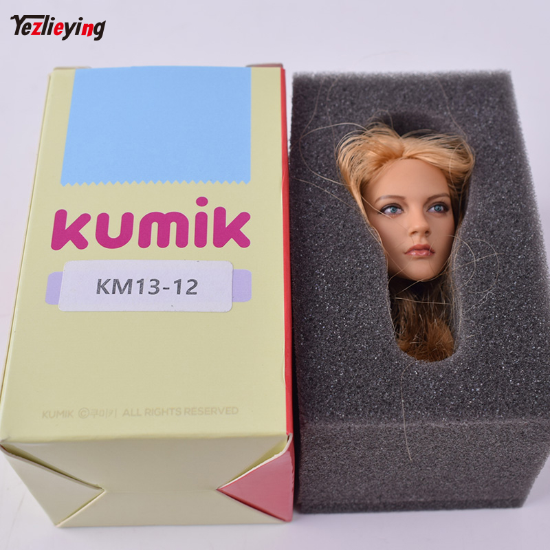 1/6 Scale Blond Doll KUMIK 13-12 Head Sculpture Model Carving Fit 12 Inch Phicen Action Figure HT TTL Toys Can Collection kumik 1 6 scale war brown horse model ac 10 fit for 12 soldier zc ttl phicen action figure doll toys