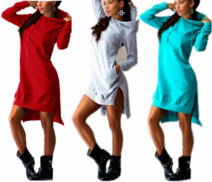 783b0e2f717 Winter Women Dress Vestidos Hoodie Vintage Sport Dresses Sexy Long ...