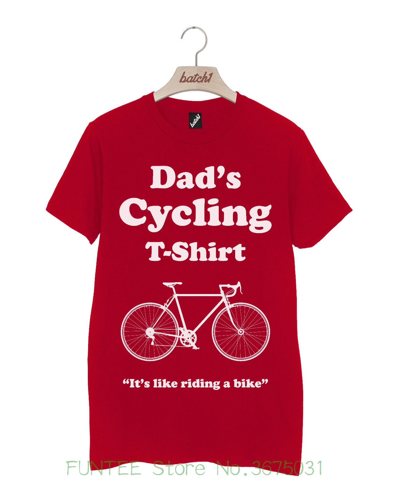 Cool Slim Fit Letter Printed Batch1 dads Cyclist T-shirt Tee - Fun Fathers Day Gift , Xmas Birthday Present