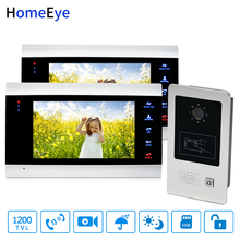 HomeEye 7 Home Access Control System 1-2 Video Door Phone Bell 1200TVL Rainproof RFID Motion Detection Touch Button