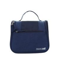 Korean Handle Solid Cosmetic Bags For Women Durable Makeup Bag Beautician Wash Bags Polyester Waterproof Toiletry
