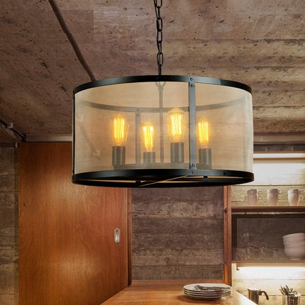 Industrial loft antique lamp edison bulb vintage pendant for Hanging light fixtures for dining room
