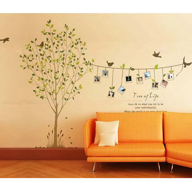 Tree Birds Photos Vines Wall Decal Home Sticker Paper Art Picture ...