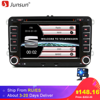 Junsun 7 2 Din Car DVD Multimedia Player For VW Volkswagen Passat POLO GOLF Skoda Seat