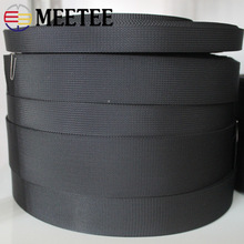 Meetee 5Meters 1mm Thick Black Nylon Webbing Ribbon Band Strap Tape Dog Collar Backpack Knapsack Belt DIY Sewing Accessories 50 yards 25mm 1 width nylon webbing strapping ribbon sewing tape backpack belt bag clothing diy garment strap 1mm thickness