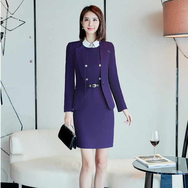 Business formal damen kleid
