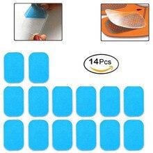 14Pcs Replacement Gel Pads Sheet Abdominal Belt Toning Muscle Toner ABS Stimulat