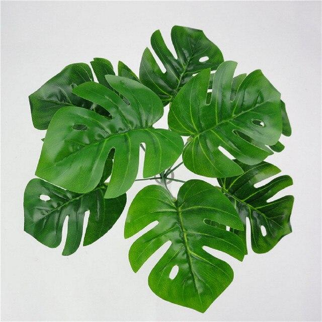 Comprar 9 jefes artificial tortuga hojas - Plantas de hojas verdes ...