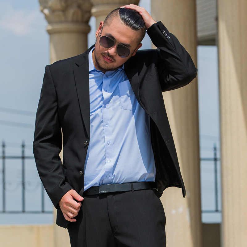 71d59ab1636 ... 2018 new Mens black colour obese 9xl suit set high quality blazer very big  dress suit ...