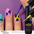 Perfect Summer DIY Painted Nail Gel Polish Nail Art UV Soak Off Drawing Nail Gel Varnish Pen 6ml Gel Liner