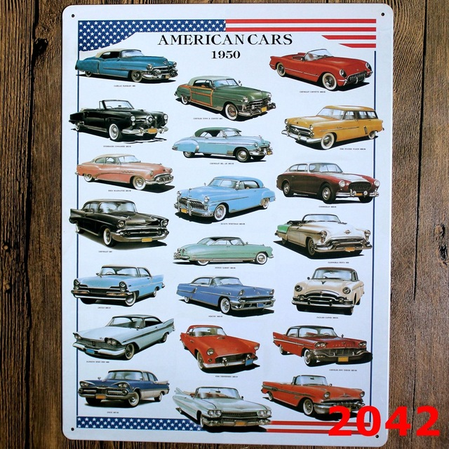 Aliexpress.com : Buy 30X40CM Vintage America Cars Tin Sign for ...