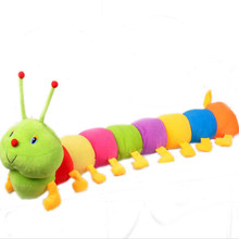 Baby Toys Colorful Caterpillars Millennium Bug Doll Plush Toys Kids Large Caterpillar Hold Pillow Doll toys for children(China)