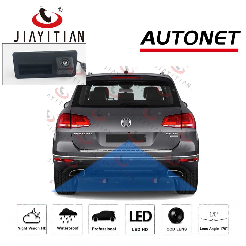 JIAYITIAN Car Trunk Handle Camera For Volkswagen Touareg 7P Touareg 2 MK2 2011~2018 Rear View Reversing Parking Backup Camera