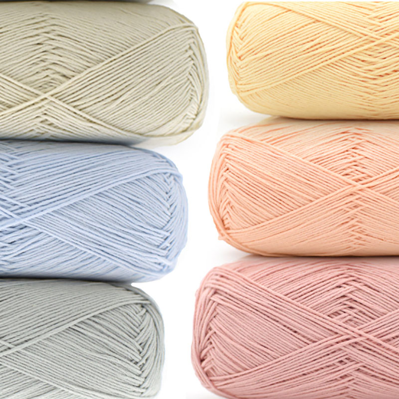 Combed Soft 100% Organic Cotton Baby Yarn Hand Knitting Crochet Thread First Class Cotton Yarn 10balls/lot 500g Wholesale JB002