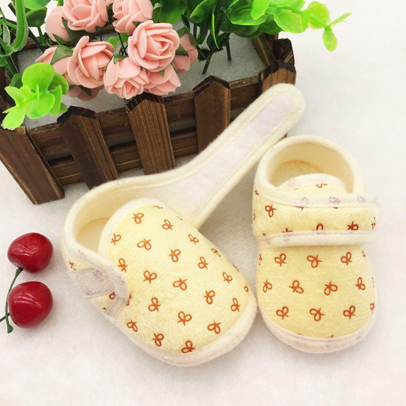 Cute Newborn Infants Kids Baby Shoes Cozy Cotton Soft Soled Crib Shoes Prewalker S01