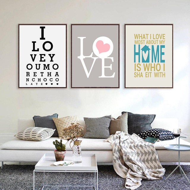 HAOCHU Modern Black White Nordic Living Room Decoration Life Love Quotes  WALL ART Poster Canvas Painting