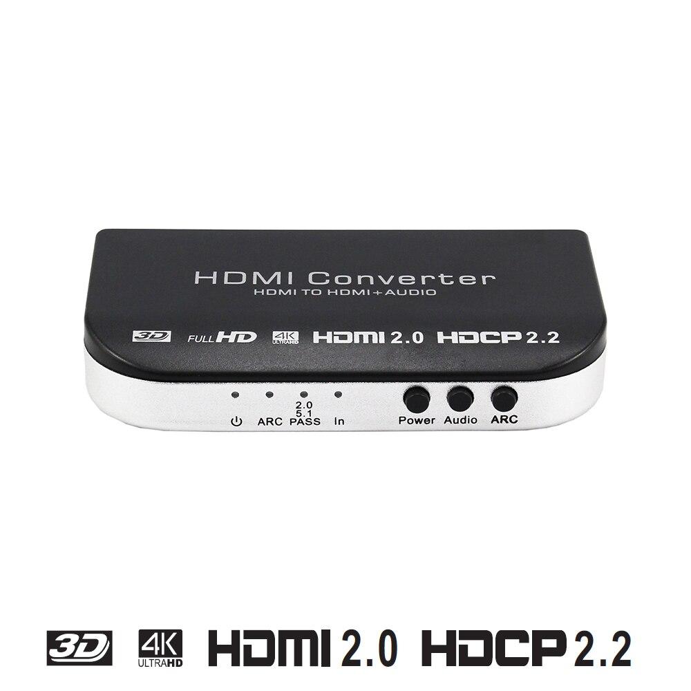HDMI 2.0 Convertisseur extracteur HDMI à HDMI et Optique TOSLINK SPDIF + 3.5mm Stéréo Audio extractor soutien 4 k 3D ARC HDCP2.2