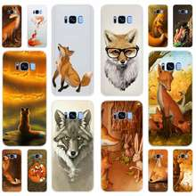 ¡Sr! Lindo Fox Z3j-funda blanda para Samsung Galaxy S7 Edge S8 S9 S10 S11 S20 S30 Plus Lite E