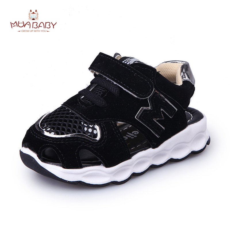 Muababy Children s Sandals 2017 New Arrival Summer Mesh Sandals Shoes Closed Toe Sandals Casual Ankle