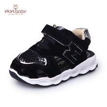 Muababy Enfants Sandales 2017 Nouvelle Arrivée D'été de Maille Sandales Chaussures Fermé Orteils Sandales Casual Cheville-wrap pour Sport enfants S36