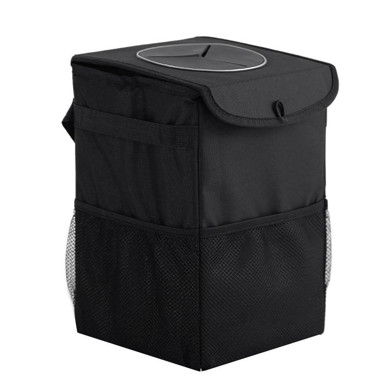 Universal Travel Auto Car Trash Can Bin Bag Rubbish Garbage Holder Tool Deluxe