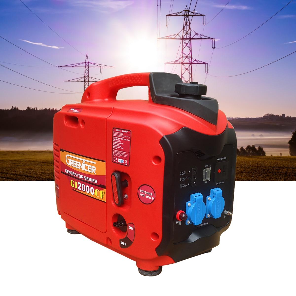 1/2/3KW 220 v Elettrico Portatile DC/AC Inverter Generatore di Benzina Digitale del Motore Alimentato Generatore Set potenza Ture carburante Basso