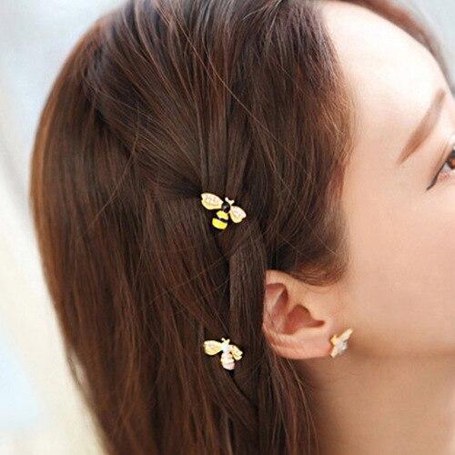 1 Pc Metal Cute Bee Hair Clips Girls Hair Grips Barrettes Hairpin For Women Hair Accessories Girl's Hair Accessories