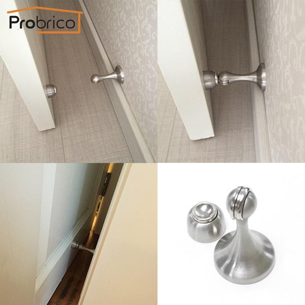 probrico heavy duty door stop easy install dshh911 metal wall mounted door holder floor mounted magnetic door catch stopperin door stops from home