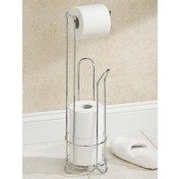 European Style Roll Stand Popular Modern Minimalist Stainless Steel Floor Type Toilet Paper HolderT2