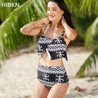 HIBKN Sexy High Waist Bikini 2018 Plus Size Xxl 3xl 4xl 5xl Large Size 2 Piece