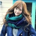 2016 new design Coreano mulheres inverno colorido de lã gola cachecol feminino lenço quente