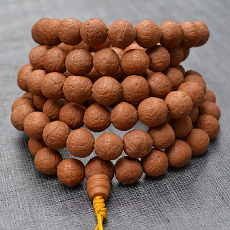 Wholesale Yellow skin Eyebrows Natural Bodhi bracelets Original Seed Bodhi Round 108 Buddha beads DIY Hand String Accessories candy coloured string hand chain bracelets