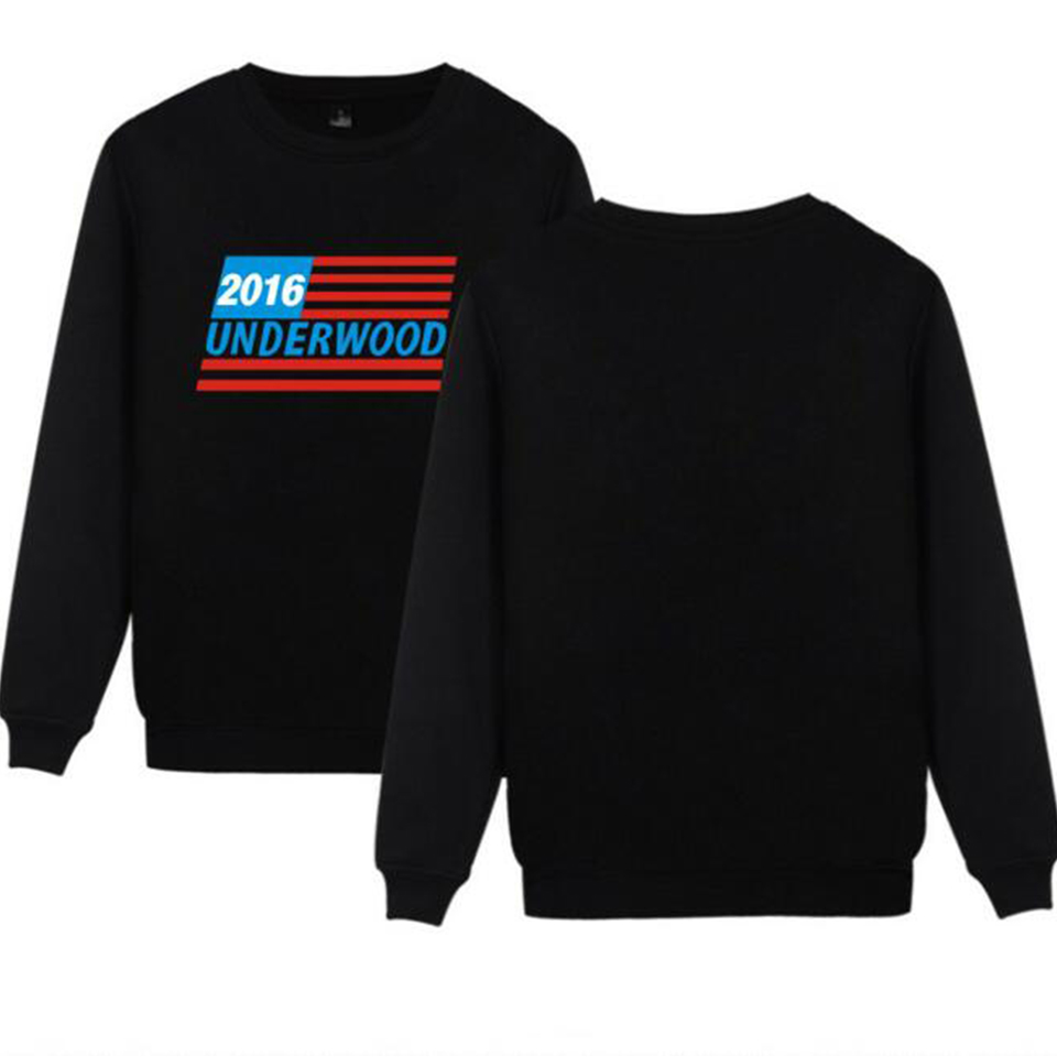 New House Of Cards Hoodies men Black Cotton Fashion Underwood Sweatshirt men in Streetwear Style Clothes XXS-4XL