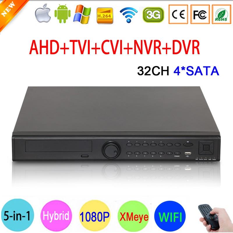 1080P/960P/720/960H CCTV Camera Hi3531A 32CH 32 Channel 4 SATA 6 in 1 1080N Hybrid Coaxial Wifi NVR TVI CVI AHD DVR FreeShipping 1080p 960p 720p 960h cctv camera hi3531a 32ch 32 channel 6 in 1 coaxial hybrid nvr cvi tvi ahd dvr surveillance video recorder