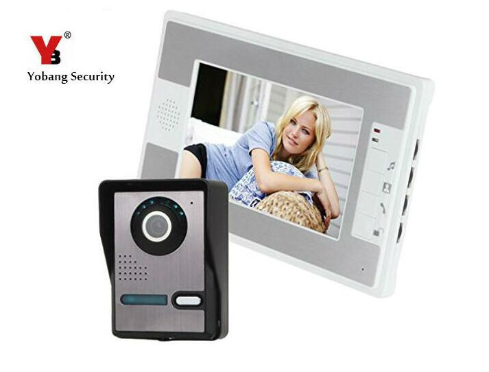 Yobang Security Video Door Phone 7 Color TFT LCD Video DoorPhone Doorbell Intercom Night Vision Without Radiation IR Camera hot sale tft monitor lcd color 7 inch video door phone doorbell home security door intercom with night vision