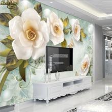 beibehang custom Embossed Rose Mural photo wallpaper for walls