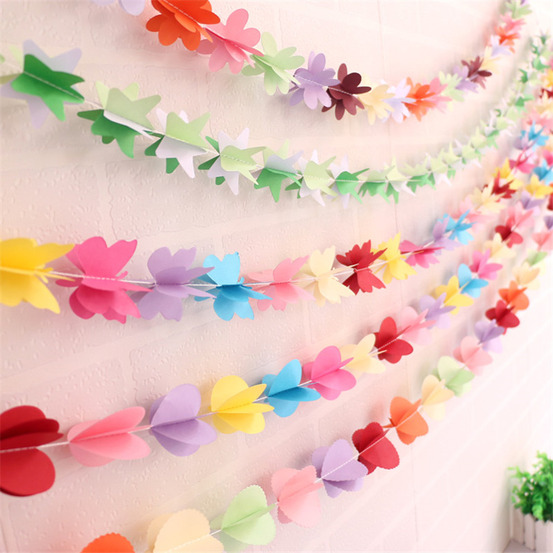 Colorful hanging paper flowers 1set stars butterfly garland festa colorful hanging paper flowers 1set stars butterfly garland festa artificial birthday wedding baby shower diy home decoration in party diy decorations from mightylinksfo